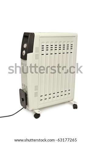 electric fire isolated on a white background - stock photo