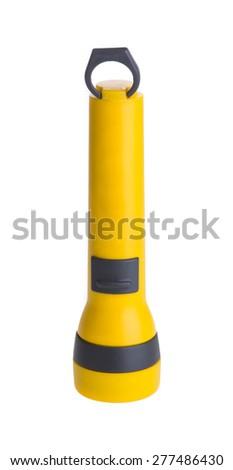 Electric Flashlight isolated on white background - stock photo