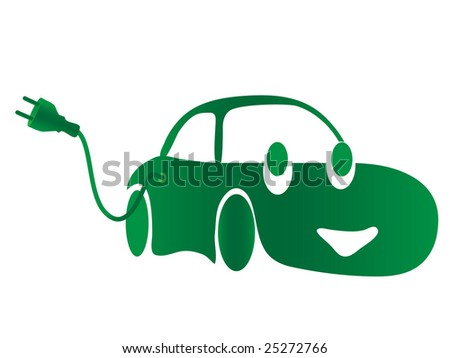 Electric green car. jpeg format. For vector version please see my portfolio - stock photo
