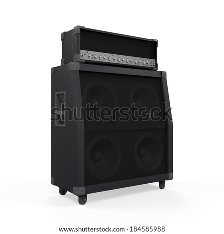 Electric Guitar Amplifier - stock photo