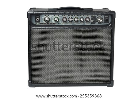 Electric Guitar Amplifier On White Background