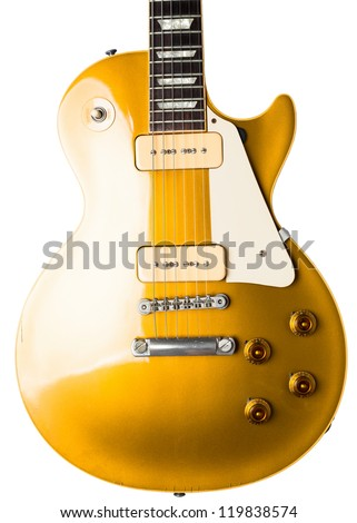 electric guitar instrument - stock photo