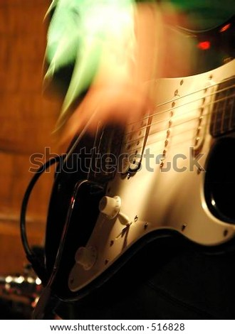 Electric guitar player - stock photo