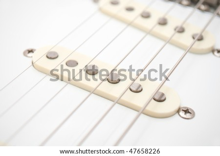 Electric Guitar Strings - stock photo