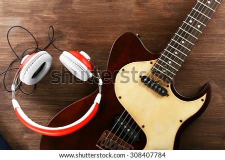 old vintage electric bass guitar on stock photo 285722138 shutterstock. Black Bedroom Furniture Sets. Home Design Ideas