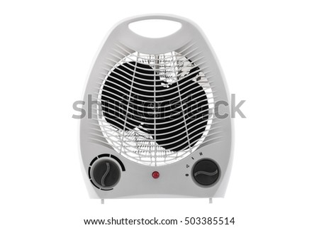 Electric heater isolated on white background