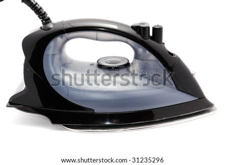 Electric iron isolated on white background - stock photo