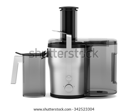 electric juicer isolated on white background - stock photo