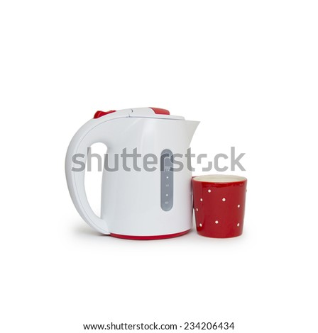 Electric kettle isolated on white background - stock photo