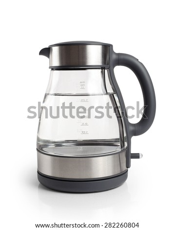 Electric kettle isolated on white background close up