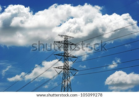 electric line - stock photo