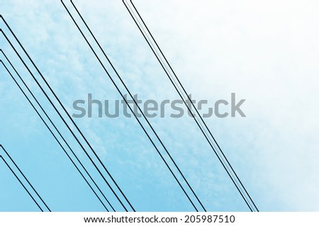 electric line on sky