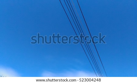 Electric lines on sky