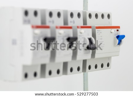 electric machines, switches, isolated on white background