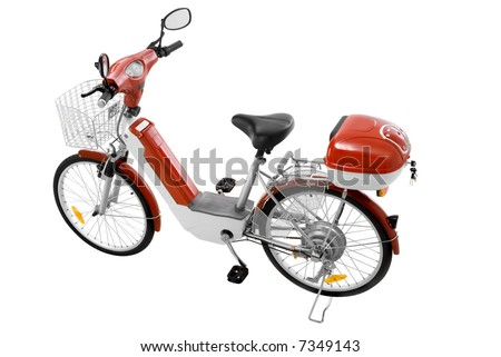 electric motor bike - stock photo