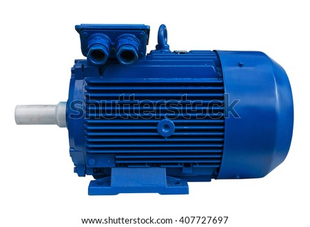Electric motor isolated. Clipping path included.