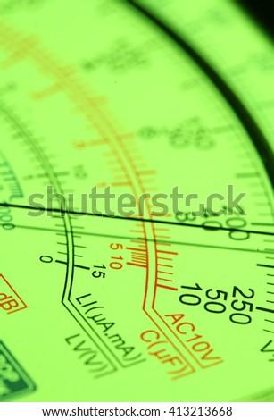 Electric multi meter close up shot  - stock photo