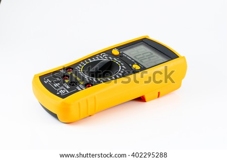 Electric multimeter isolated on white