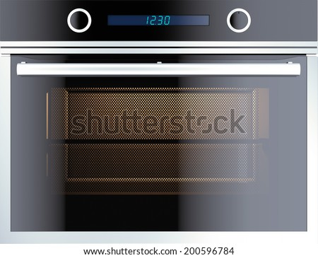 Electric oven isolated on white.  - stock photo