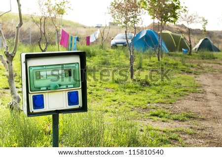 Electric panel in camping .