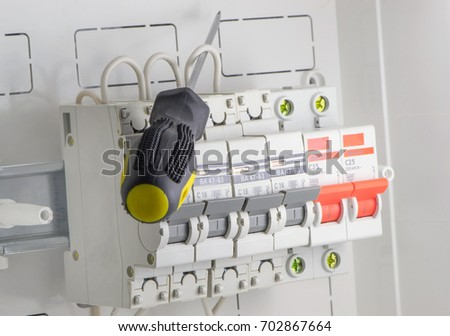 Busbar Connect To Circuit Breaker Stock Images Royalty
