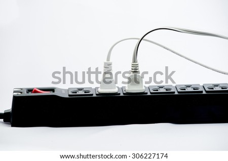 electric plug - stock photo