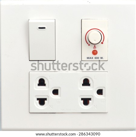 electric plug and switch  - stock photo