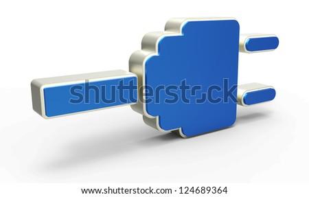 electric plug icon - stock photo