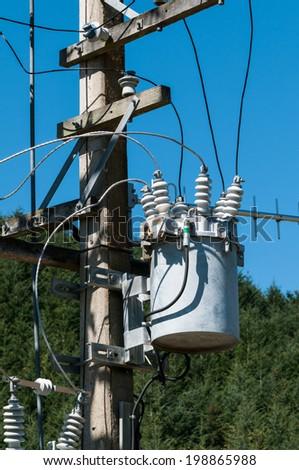 electric pole - stock photo