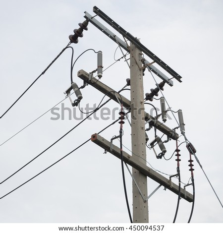 electric pole and electric line