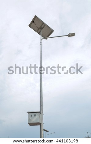 Electric pole build from solar cell, it is technology safe the earth