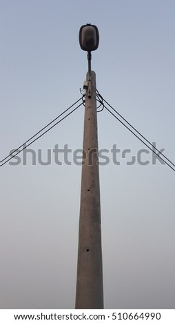 electric pole in peace