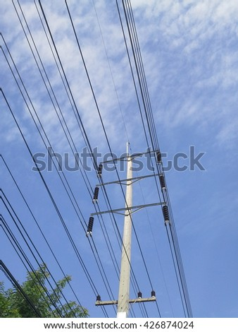 Electric  pole  in  the  city