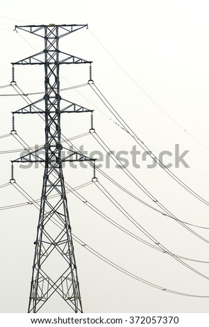Electric pole on a white background/ Electric pole