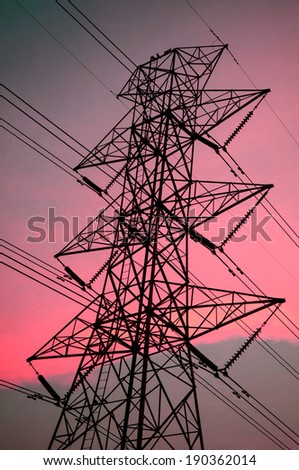 electric post - high voltage power pole