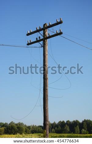 Electricity Pole Line Apparatus