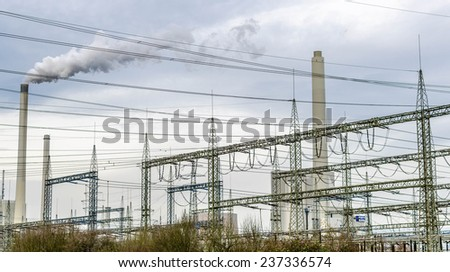 Electric power plant - stock photo
