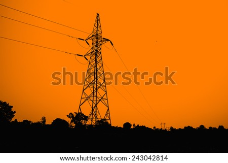 Electric Power pole - stock photo
