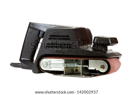 Electric sander isolated on a white background.