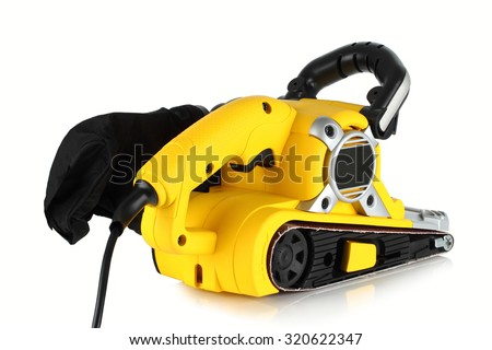 Electric sander on a white background.