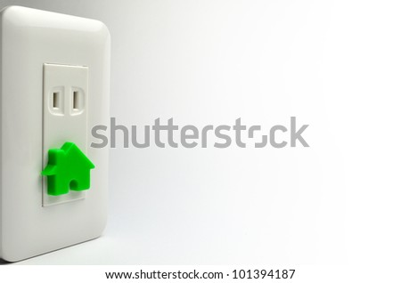 Electric socket and house