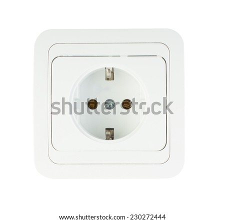 Electric socket isolated on a white background.