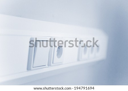 Electric socket ready for plug - stock photo