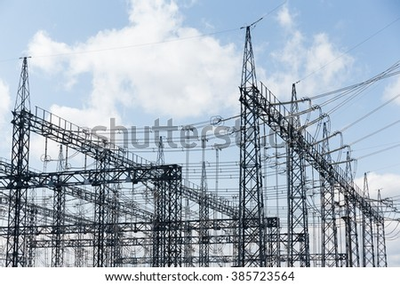 Electric substation with transformers
