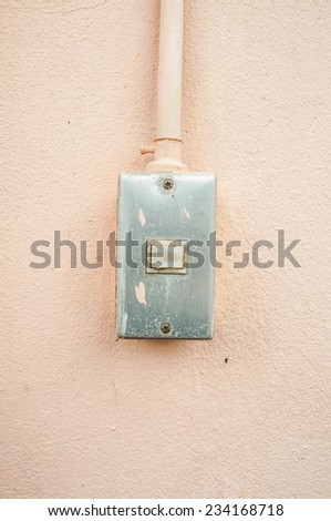 electric swith - stock photo