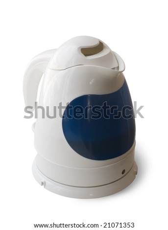 electric tea kettle. Isolated on white background