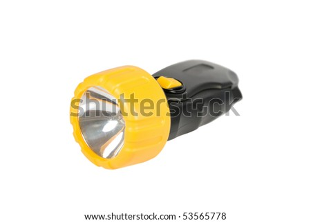Electric torch isolated on a background