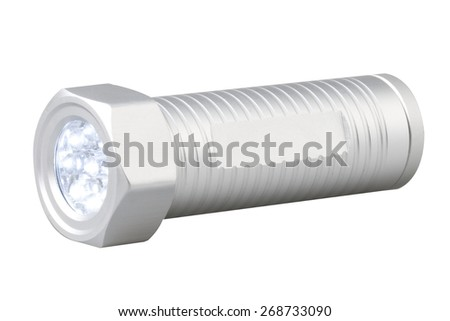 Electric torch on white background - stock photo
