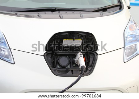 Electric vehicle charger - stock photo