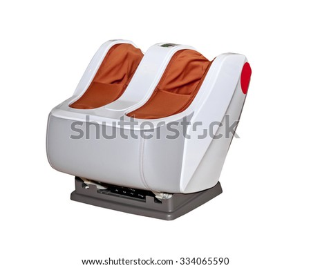 Electric vibrating feet massager isolated on white background